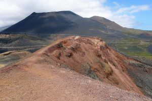 Vulkaan teneguia in het zuiden La Palma